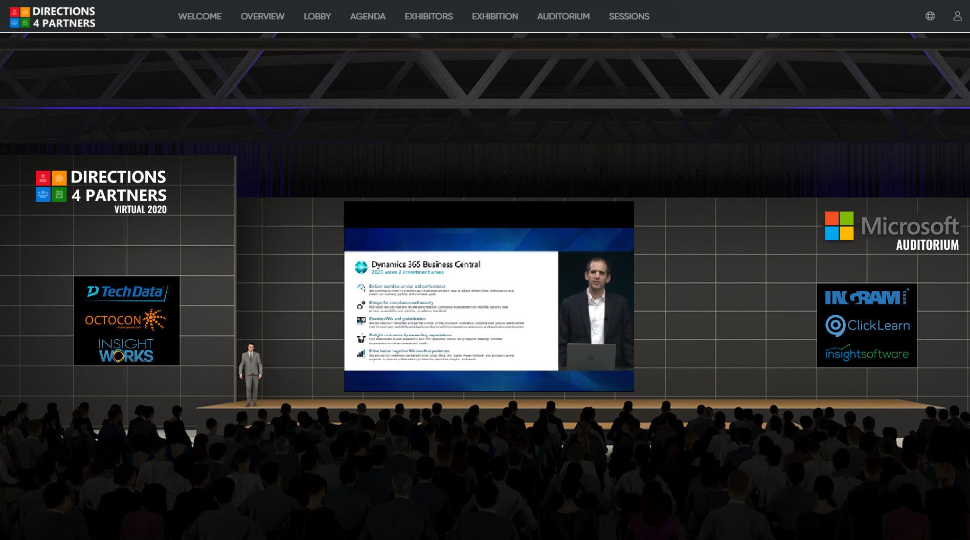 Auditorium with Presentation